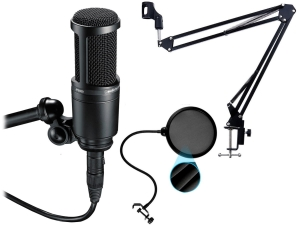 Audio-Technica AT2020 + statyw radiowy + Pop-Filtr