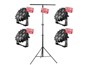 Zestaw Flash LED PAR 64 7x10W RGBW + LS-4 KIT