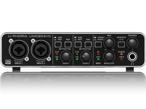 Behringer U-PHORIA UMC204HD interfejs audio