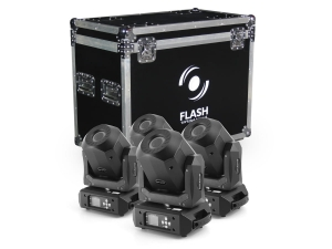 FLASH LED MOVING HEAD 90W DIAMOND SPOT 4 szt zestaw