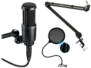 AUDIO-TECHNICA AT2020 + statyw radiowy PRO + Pop-Filtr