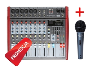 Novox M10 P powermikser USB/MP3 + mikrofon ECO88S